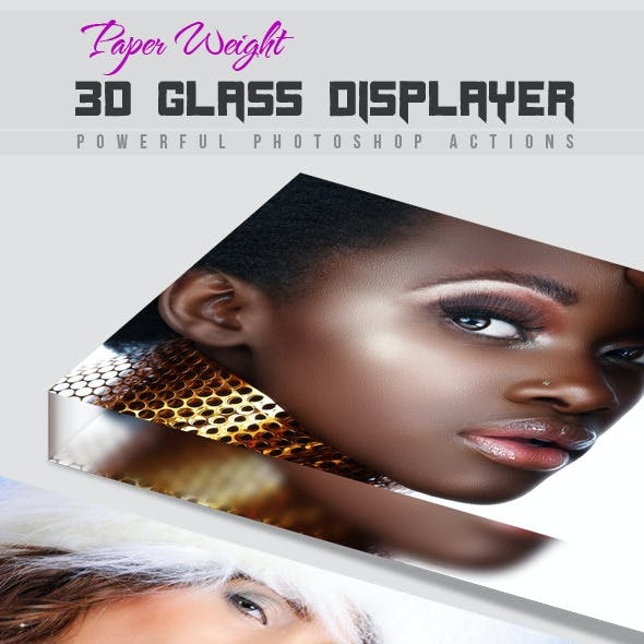 Paper Weight 3D Glass Displayer