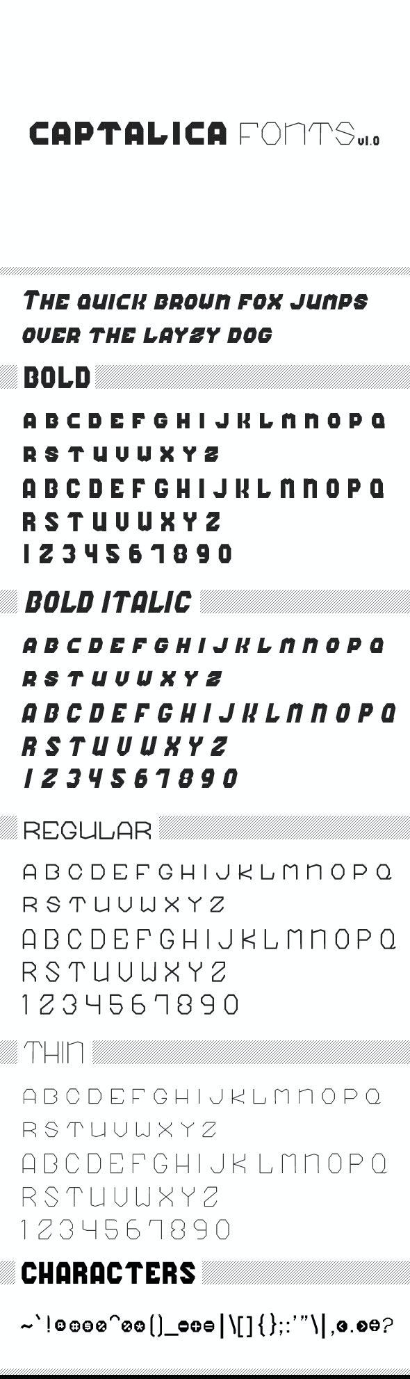 Captalica Font - Sans-Serif Fonts