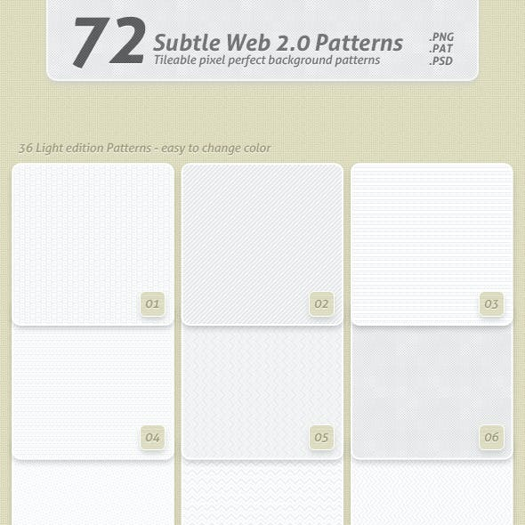 72 Subtle Web 2.0 Patterns