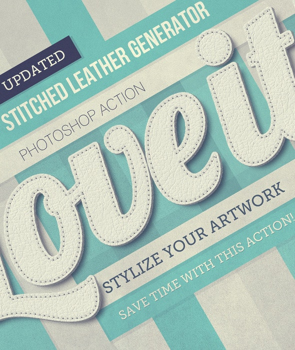 Stitched Leather Generator - Text Effects Actions