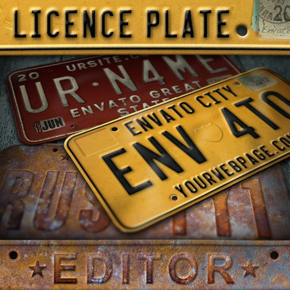 License Plate Editor