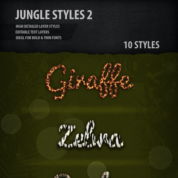 Jungle Text Styles 2