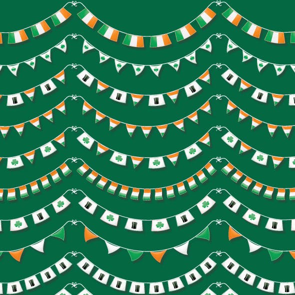 St Patrick's Day Bunting Brushes & Vector Objects