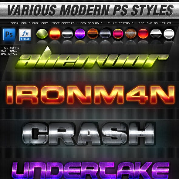 Various Modern Photoshop Styles