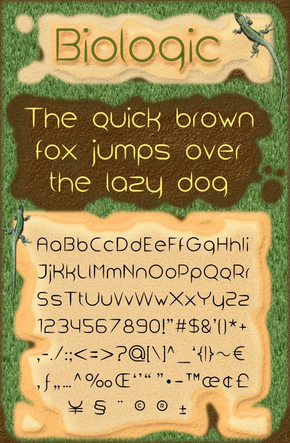 Biologic - Sans-Serif Fonts