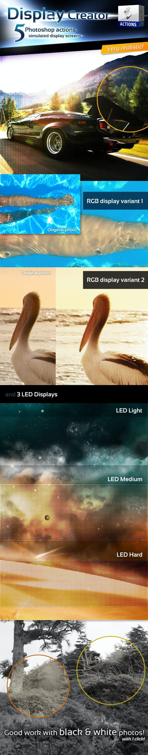 Display Creator - Photoshop Actions - Photo Effects Actions