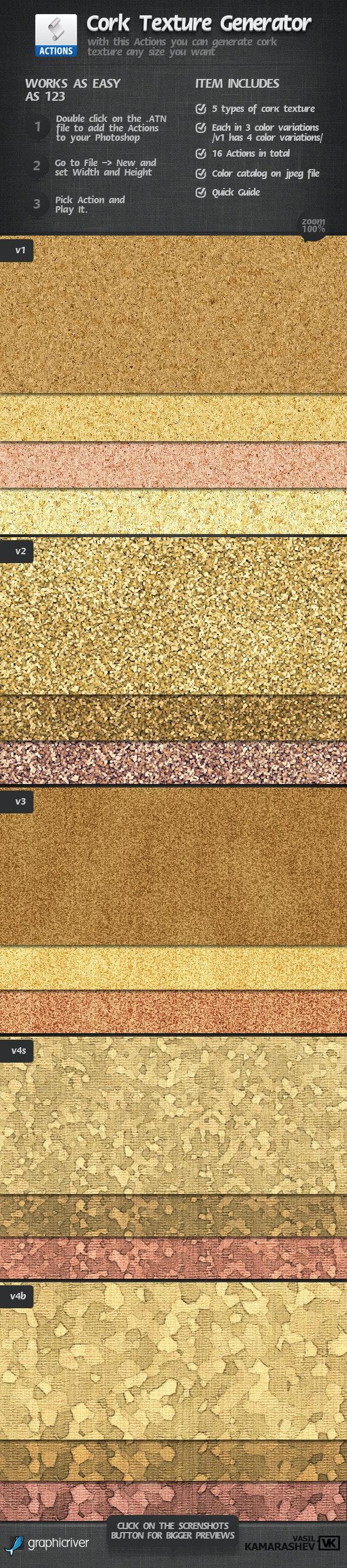 Cork Texture Generator - Photo Effects Actions
