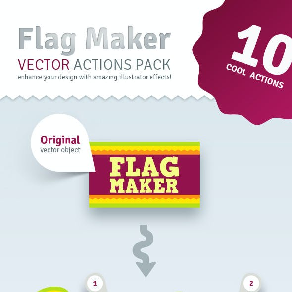 Vector Flag Maker - Illustrator Actions Pack