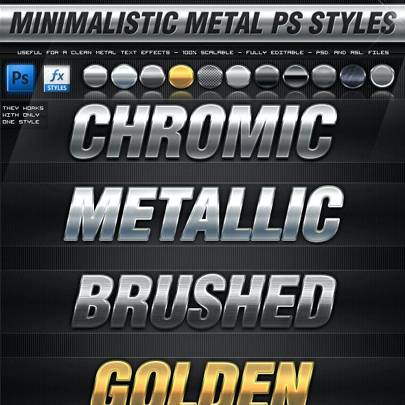 Minimalistic Metal Photoshop Styles