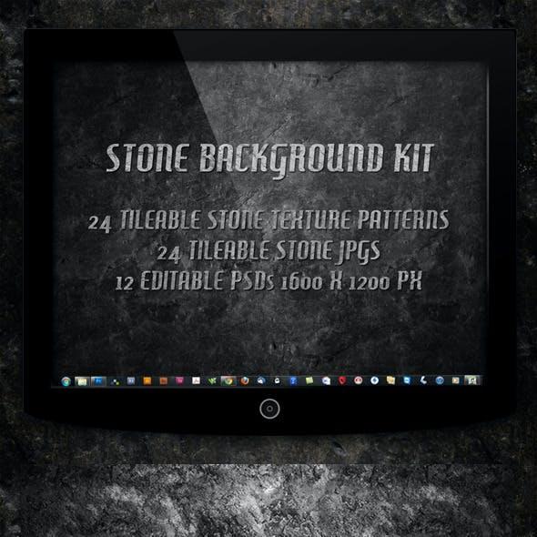 12 Tileable Stone Textures Background Kit