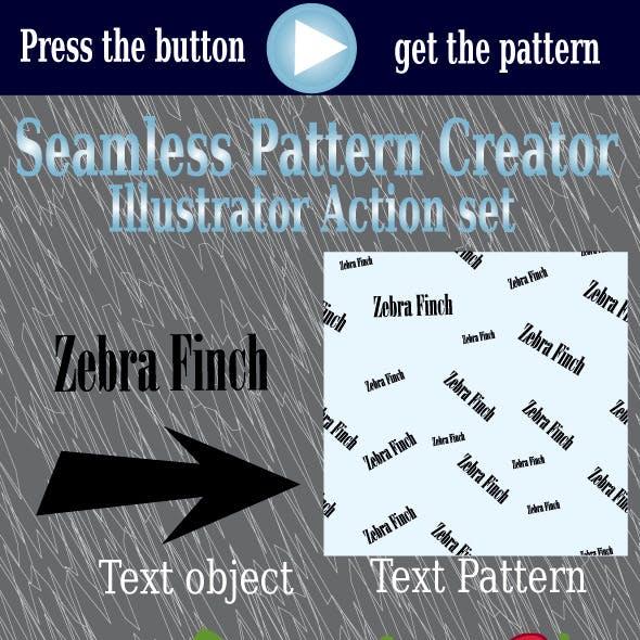 Seamless Pattern Creator -Illustrator Action Set