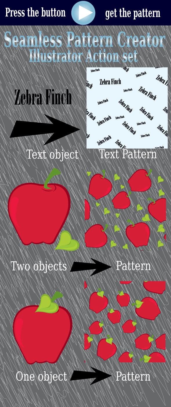 Seamless Pattern Creator -Illustrator Action Set - Actions Illustrator