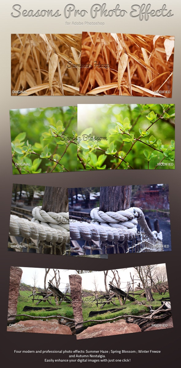 Seasons Pro Photo Effects - Photo Effects Actions