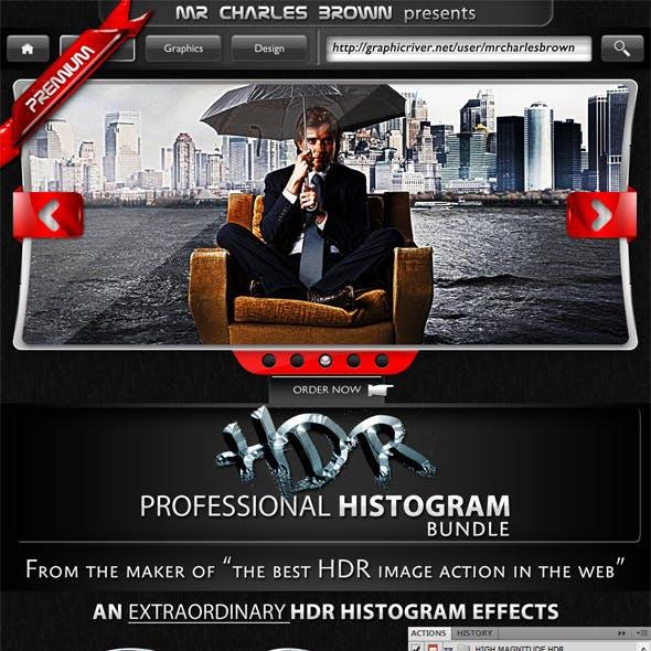 HDR Pro Histogram Action Bundle