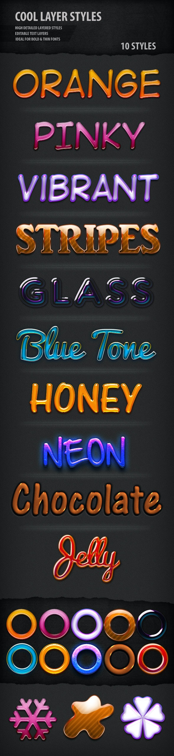 Cool Text Styles - Text Effects Styles