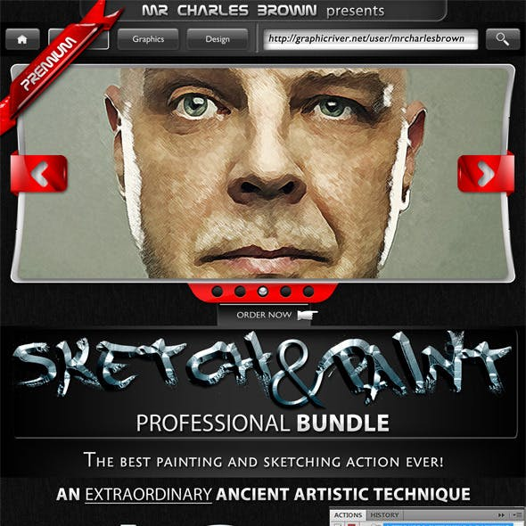 Sketch and Paint Action Pack