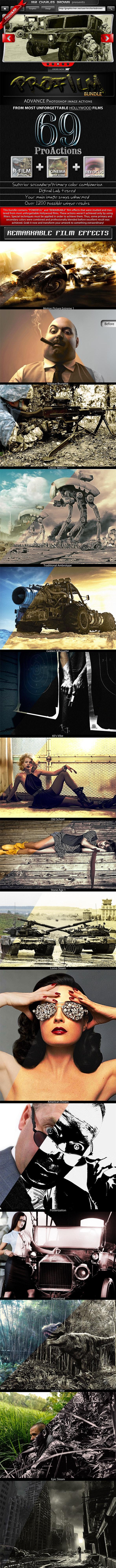 Pro Film Action Bundle - Photoshop Add-ons