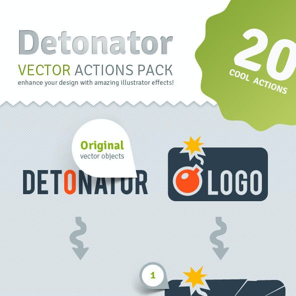 Vector Detonator - Illustrator Actions Pack