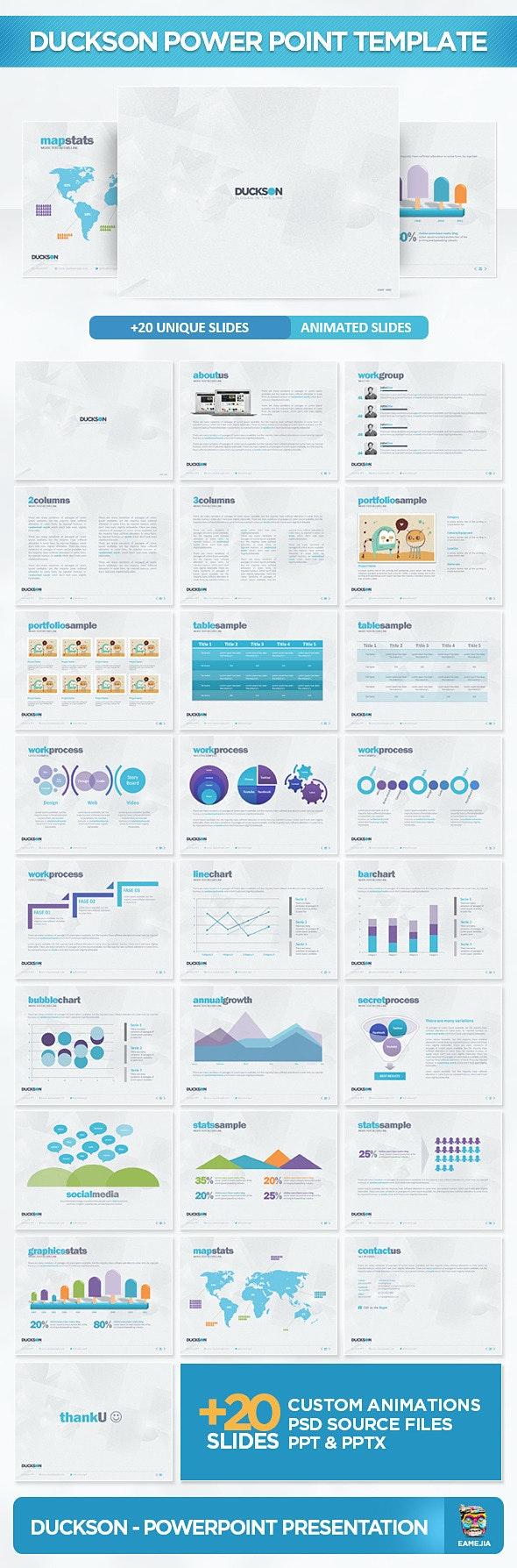 Duckson PowerPoint Presentation Template - PowerPoint Templates Presentation Templates