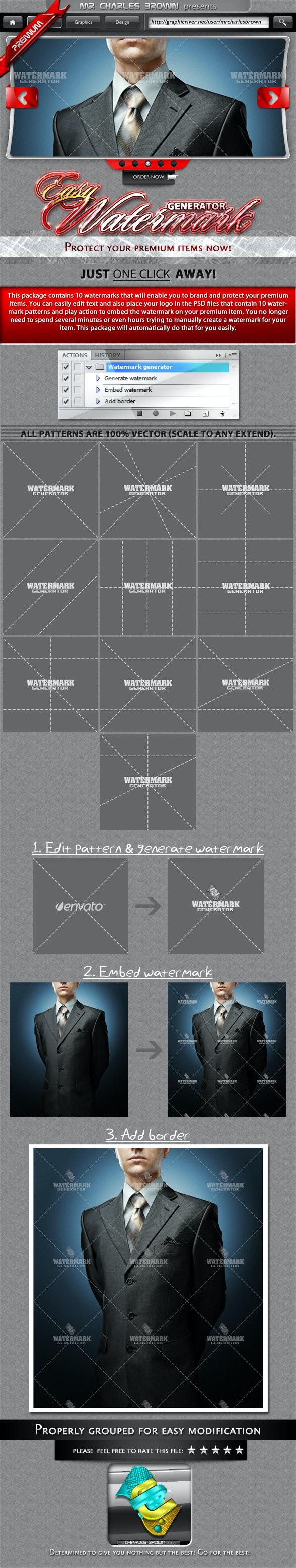 Easy Watermark Generator - Photoshop Add-ons
