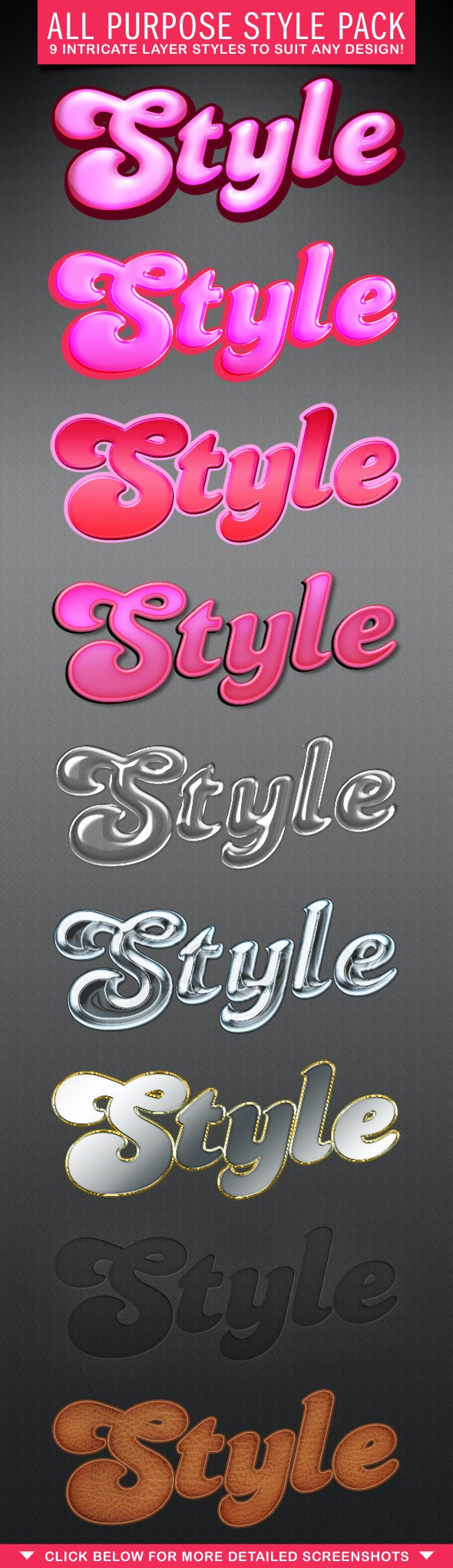 All Purpose Style Pack - Text Effects Styles