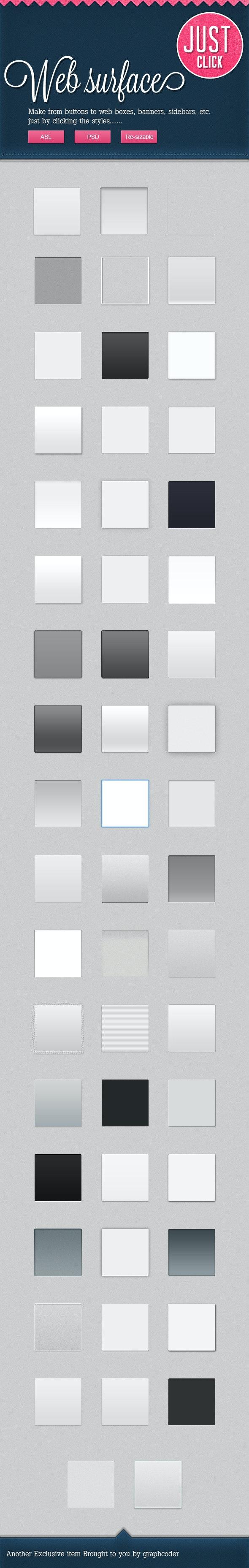 50 Web/App Surfaces (PSD+ASL) - Miscellaneous Styles