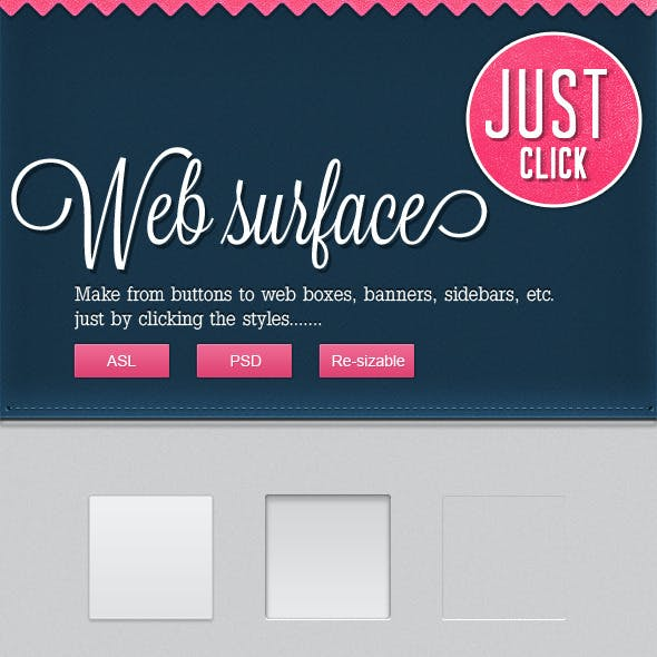 50 Web/App Surfaces (PSD+ASL)