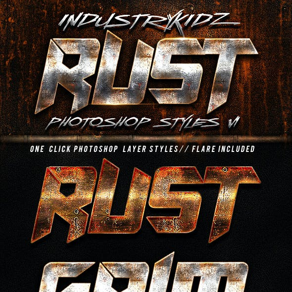 Rust Photoshop Layer Styles v1