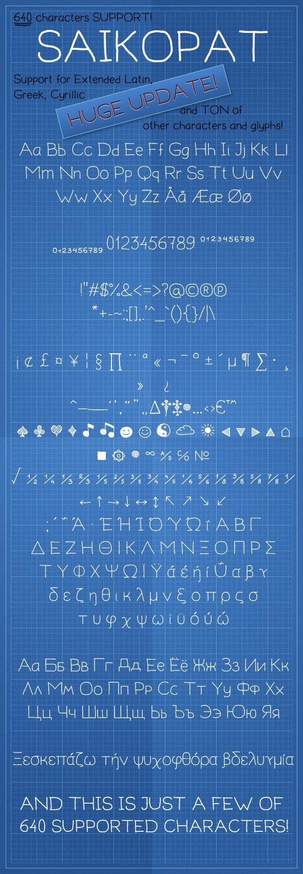 Saikopat Regular - Hand-writing Script