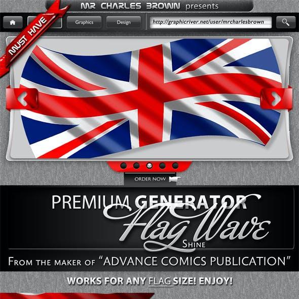 Premium Flag Wave Generator