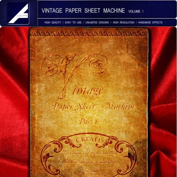 Vintage Paper Sheet Machine | Volume 1
