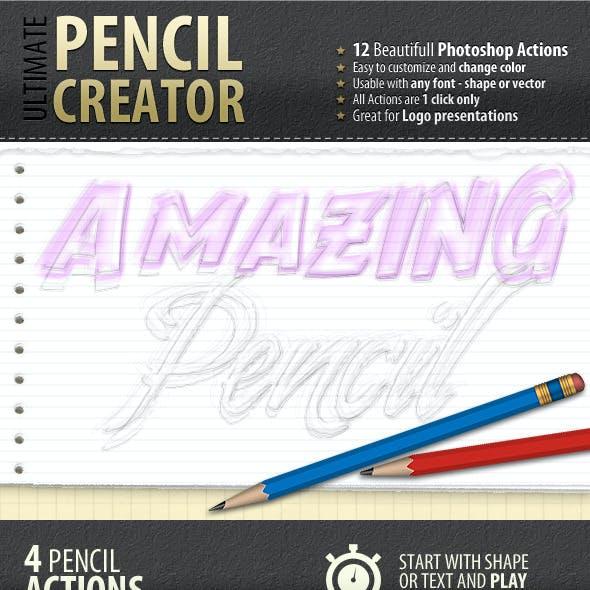 Pencil Creator - Photoshop Actions