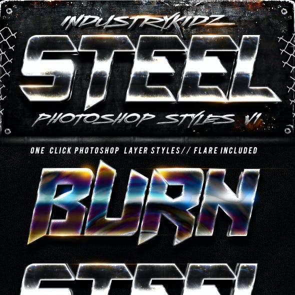 Steel Photoshop Layers Styles V1