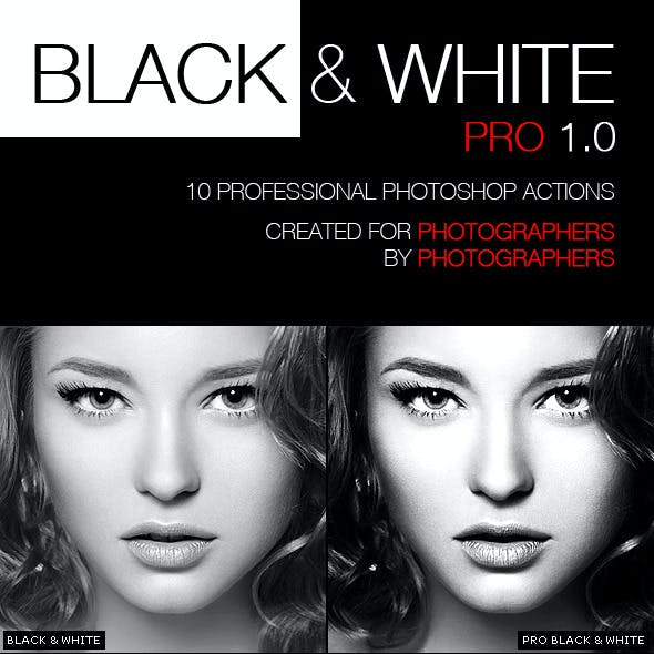 PRO Black & White Photographer Actions