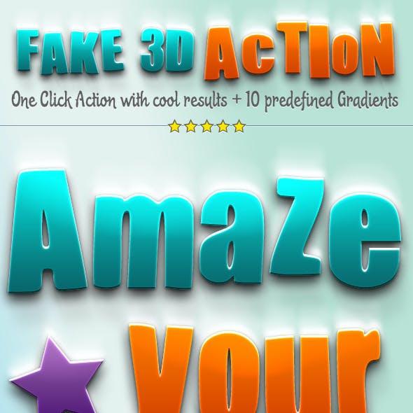 Fake 3D Photoshop Action