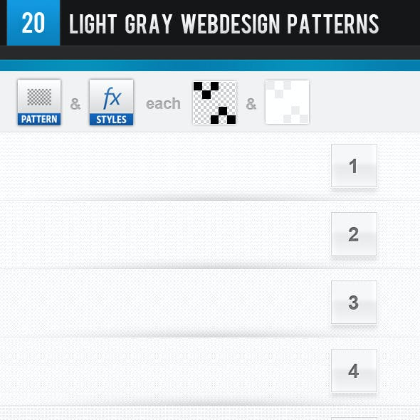 20 Light Gray Webdesign Patterns