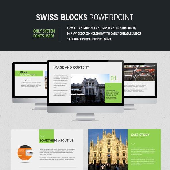 Swiss Block Powerpoint