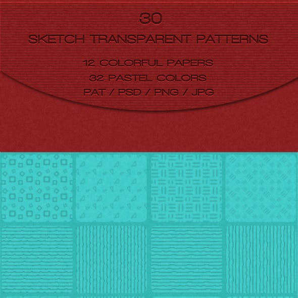 30 Sketch Transparent Patterns