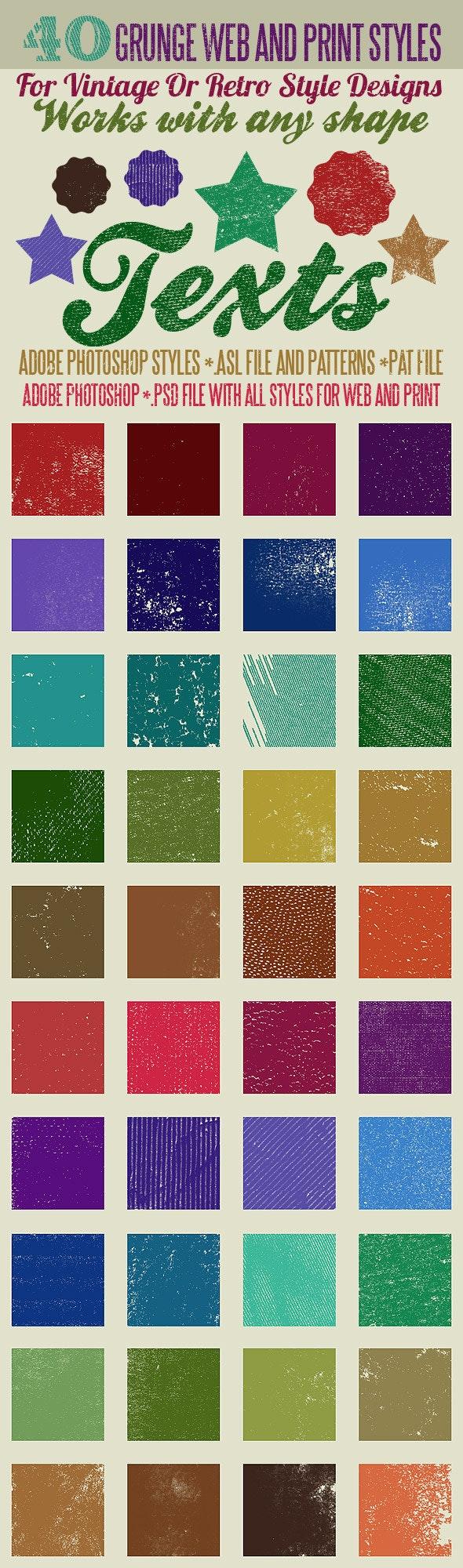 40 Grunge Photoshop Styles And Patterns - Styles Photoshop