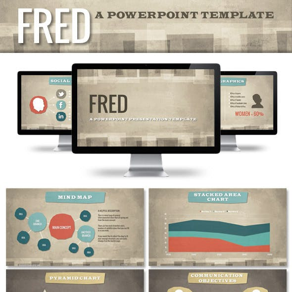 FRED Professional Powerpoint Presentation Template