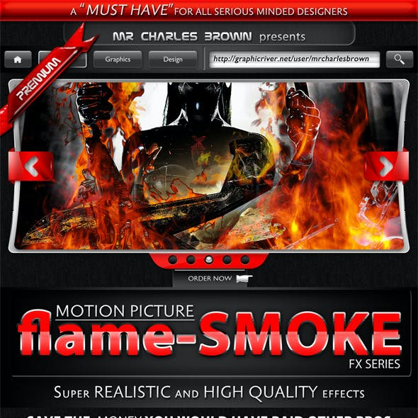 Motion Picture Flame-Smoke Series