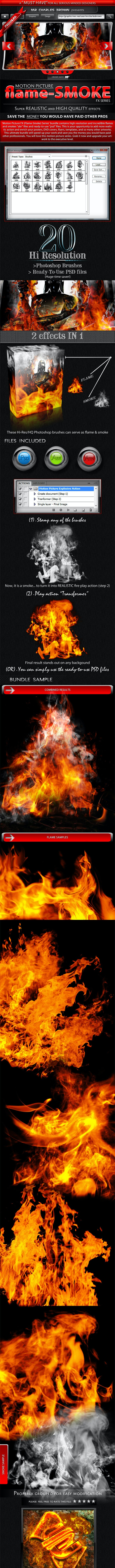 Motion Picture Flame-Smoke Series - Miscellaneous Brushes
