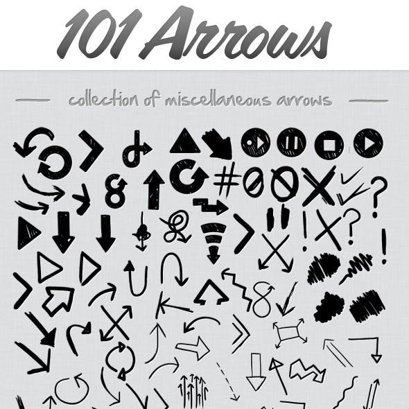 101 Hand Drawn Arrows