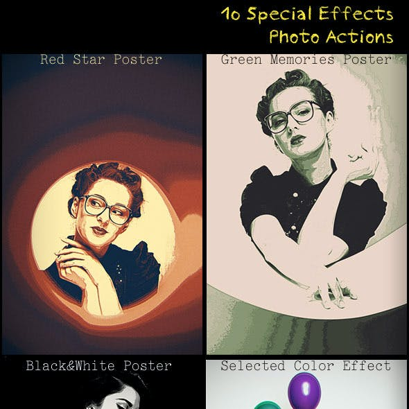 10 Special Effects Photo Actions