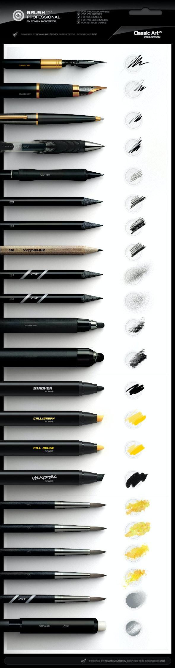 Brush Pack Professional volume 4 - Classic Art - Artistic Brushes