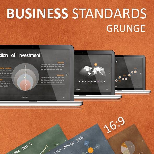 Business Standards: Grunge Keynote Presentation