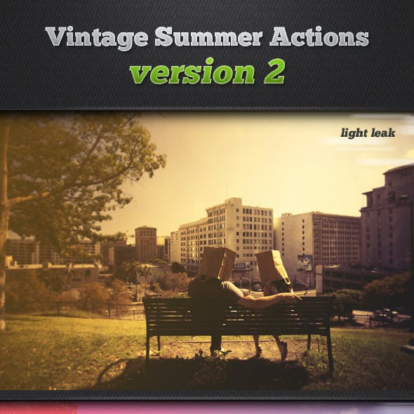 Vintage Summer Photo Actions v2