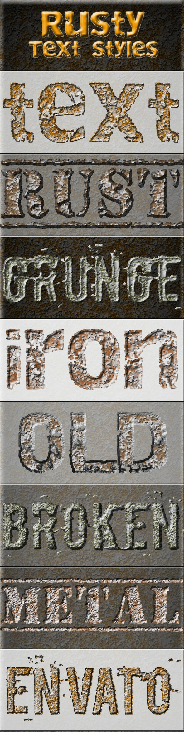 Rusty Text Styles - Text Effects Styles