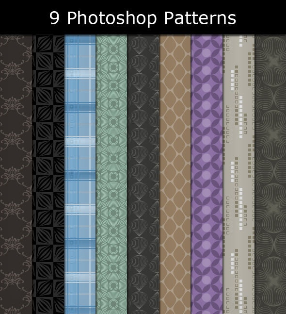 9 Photoshop Patterns - Textures / Fills / Patterns Photoshop