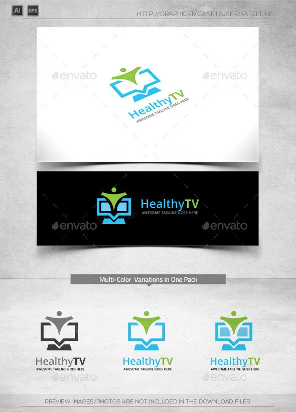 Healthy TV Screen - Logo Template - Objects Logo Templates